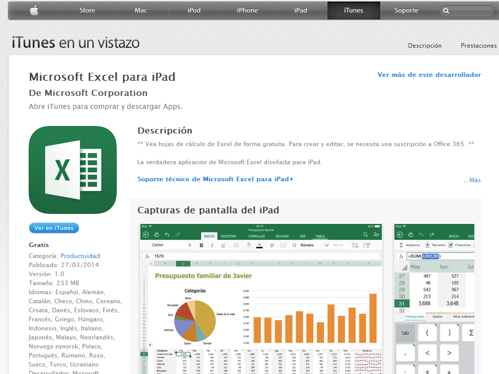 Office 365 Excel per iPad