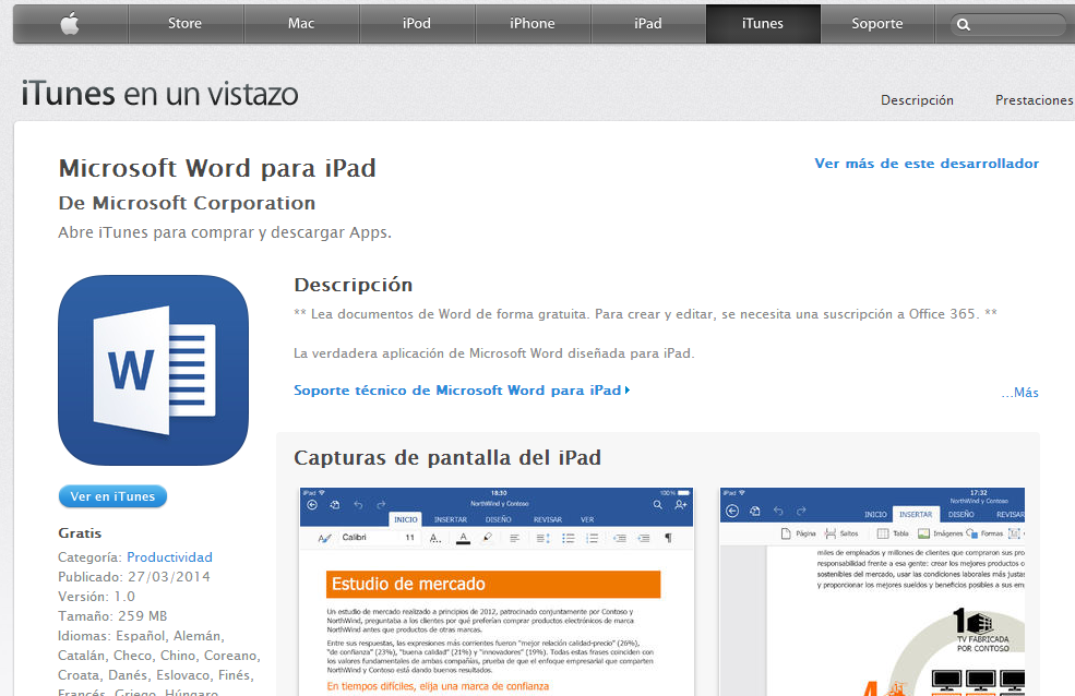 Office 365 Word per iPad